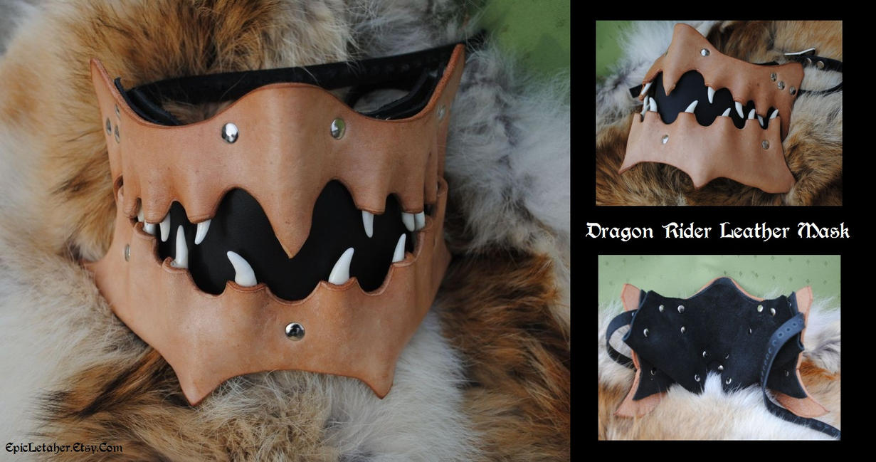 Dragon Rider Motorcycle Mask by Epic-Leather