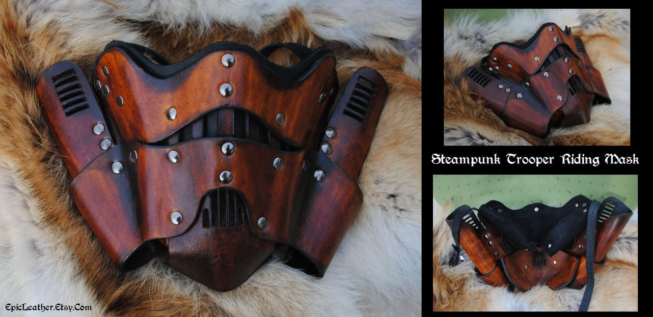 Steampunk Trooper Mask by Epic-Leather