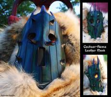 Leather Cactuar-Sama Mask by Epic-Leather