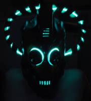 Steampunk Cybermen Mask Glow by Epic-Leather