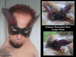 Crimson Draconian Hero Mask by Epic-Leather