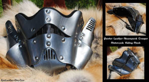 Pewter Trooper Leather MC Mask