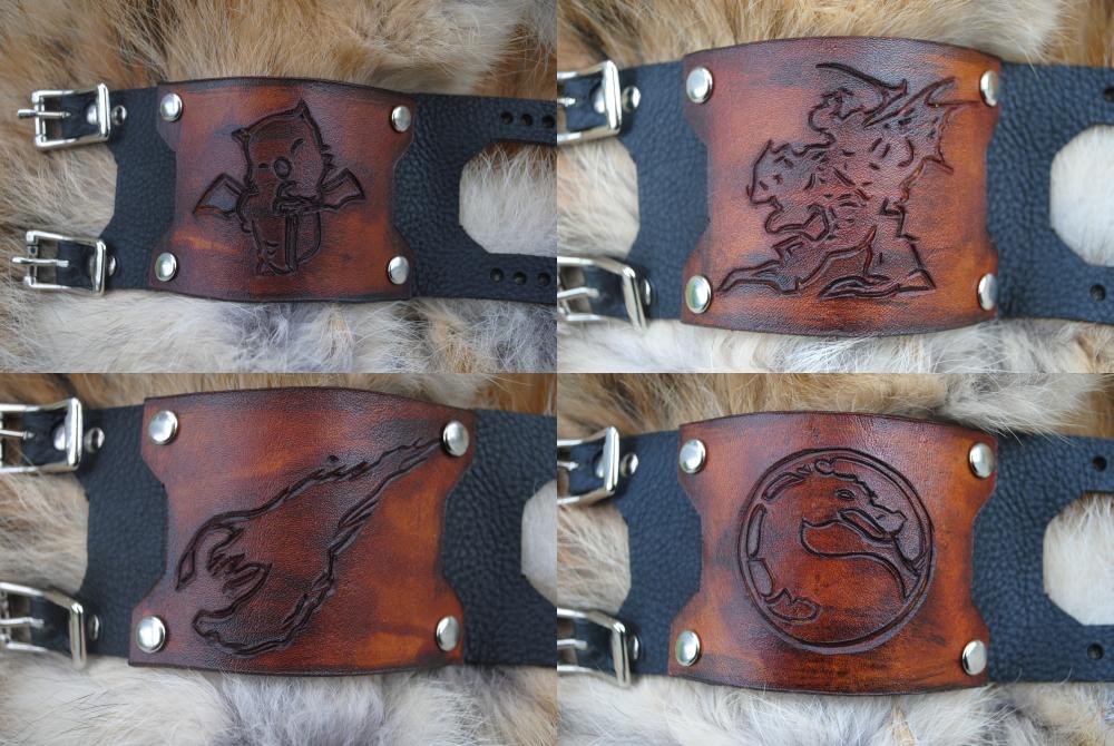 Video Game Bracer Bracelets by Epic-Leather