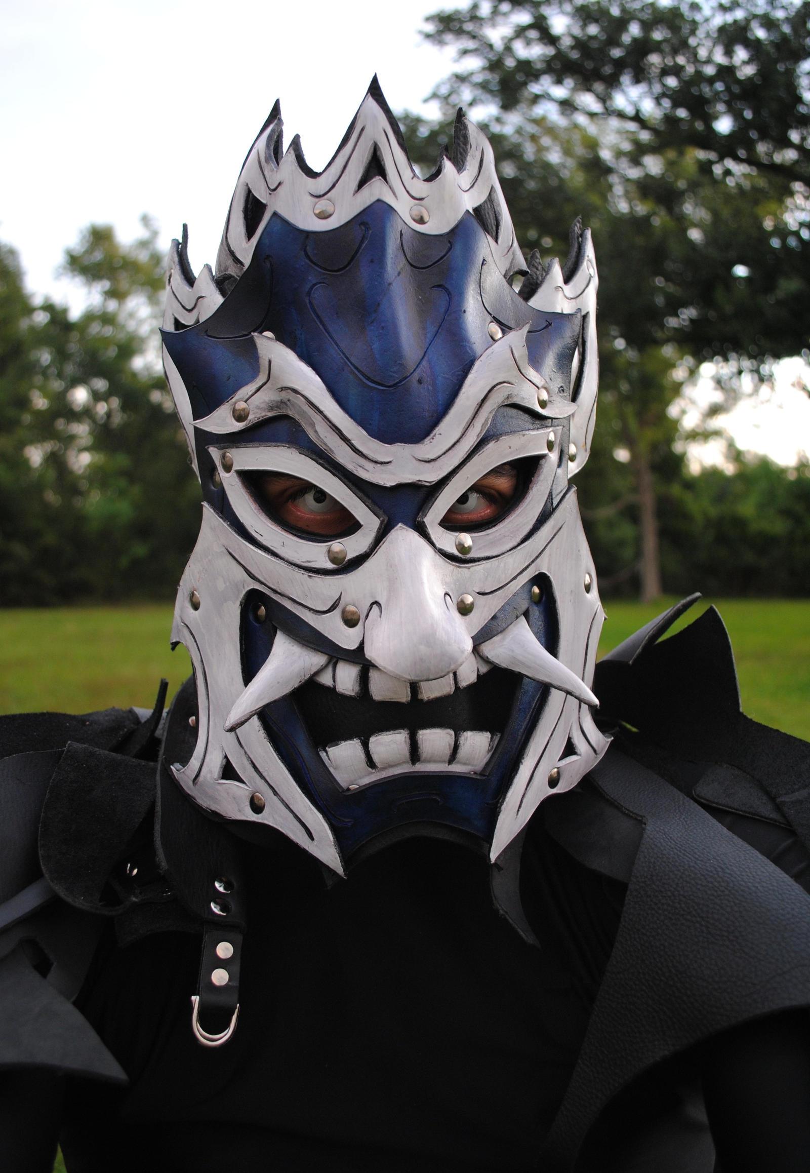 Zuko: Blue Spirit Leather Mask by Epic-Leather
