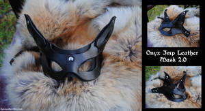 Onyx Imp Leather Mask 2.0 by Epic-Leather