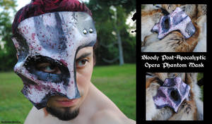 Bloody Apocalyptic Opera Mask by Epic-Leather