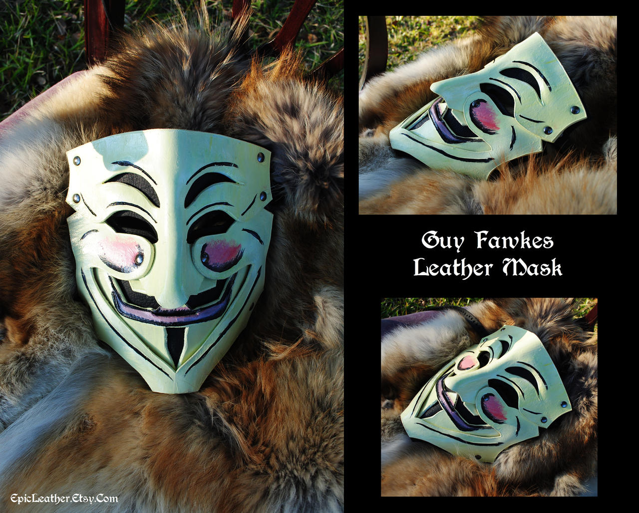 Guy Fawkes Leather Mask by Epic-Leather