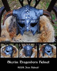 Skyrim: Dragonborn Iron Helmet by Epic-Leather