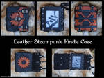 Leather Steampunk Kindle Case