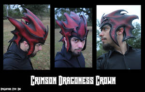 Commission: Crimson Dragoness Crown 2 by Epic-Leather