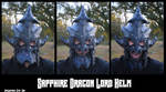 Leather Sapphire Dragon Helm: Jaw Action