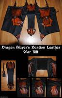 Dragon Slayers Bastion Leather War Kilt by Epic-Leather