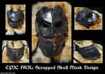 Scrapped Leather Skull Mask Design