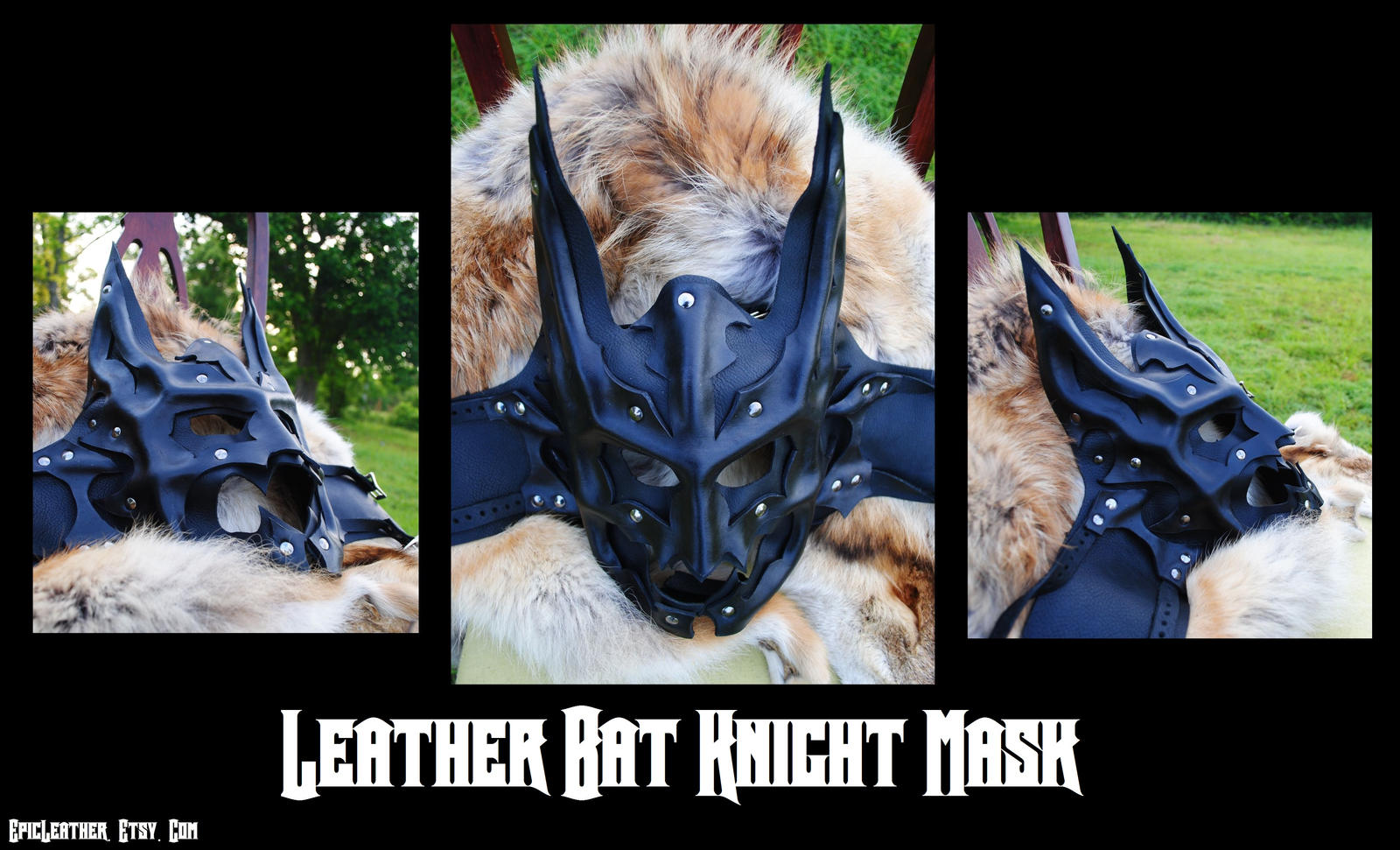 Leather Bat Knight Mask - Inspired by Batman by Epic-Leather
