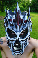 Commission: Voice of the Necropolis Mask by Epic-Leather