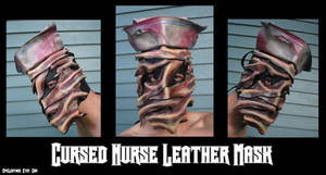 Silent Hill Inspired Cursed Nurse Leather Mask by Epic-Leather