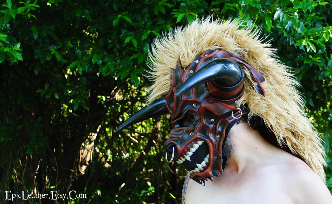Leather Tauren Mask by Epic-Leather