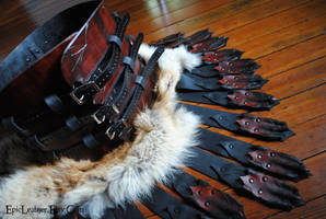 Roman Dragon War Kilt with Kidney Belt and Pelt by Epic-Leather