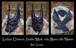 Commission: Crimson Leather Anubis Jackal Mask