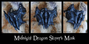Midnight Dragon Slayer's Mask by Epic-Leather