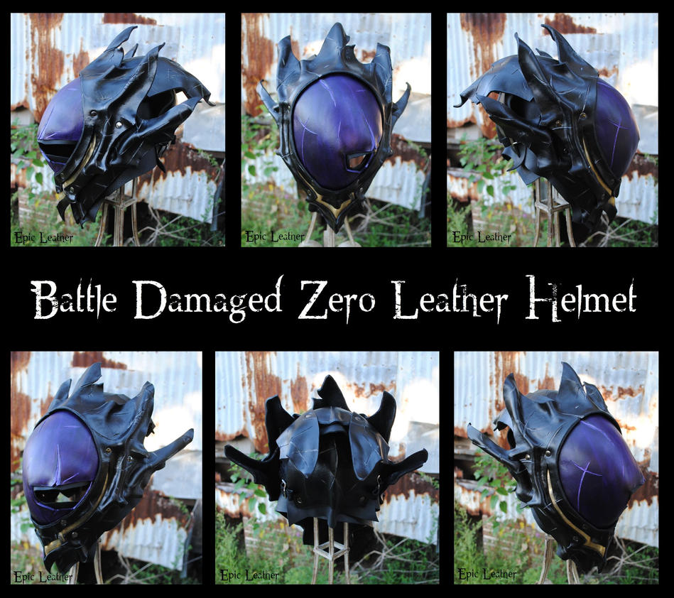 Code Geass: Battle Damaged Zero Leather Helmet by Epic-Leather