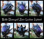 Code Geass: Battle Damaged Zero Leather Helmet