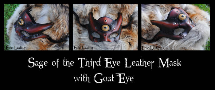 Leather Sage of the Third Eye w/ Goat Glass Eye