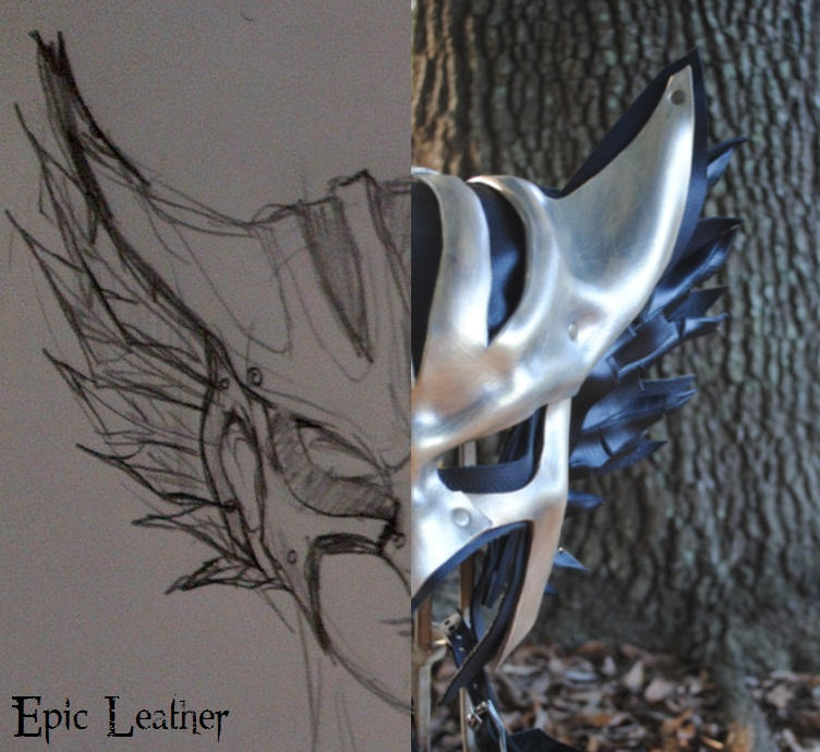 Leather Hawkgirl Helmet - Concept to Reality