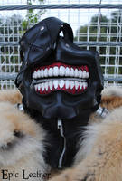 Tokyo Ghoul Ken Kaneki's Eyepatch Leather Mask by Epic-Leather