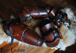 SCA Leather Gauntlets and Vambraces
