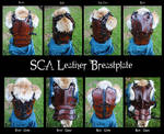SCA Leather Heavy Combat Breastplate