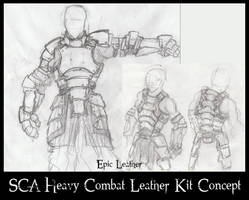 SCA Heavy Combat Leather Armor - Concept Art by Epic-Leather