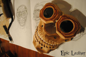 To Valhalla Leather Mask WIP by Epic-Leather