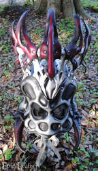 Leather Spider Queen Mask