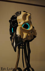 Leather Avian Plague Doctor Mask - Glow