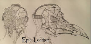 Leather Avian Plague Doctor Mask - Concept