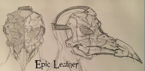 Leather Avian Plague Doctor Mask - Concept by Epic-Leather