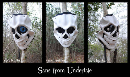 Sans Leather Mask from Undertale by Epic-Leather