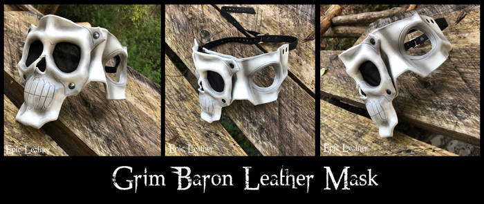 Grim Baron Leather Mask - Inspired by Gunnm