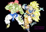 DBM: Goku U18 Vs Bojack U06 colored