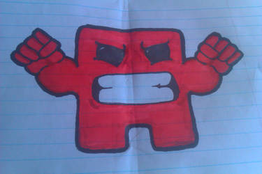 Meat Boy drawing