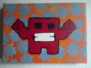 Angry Meat Boy stencil