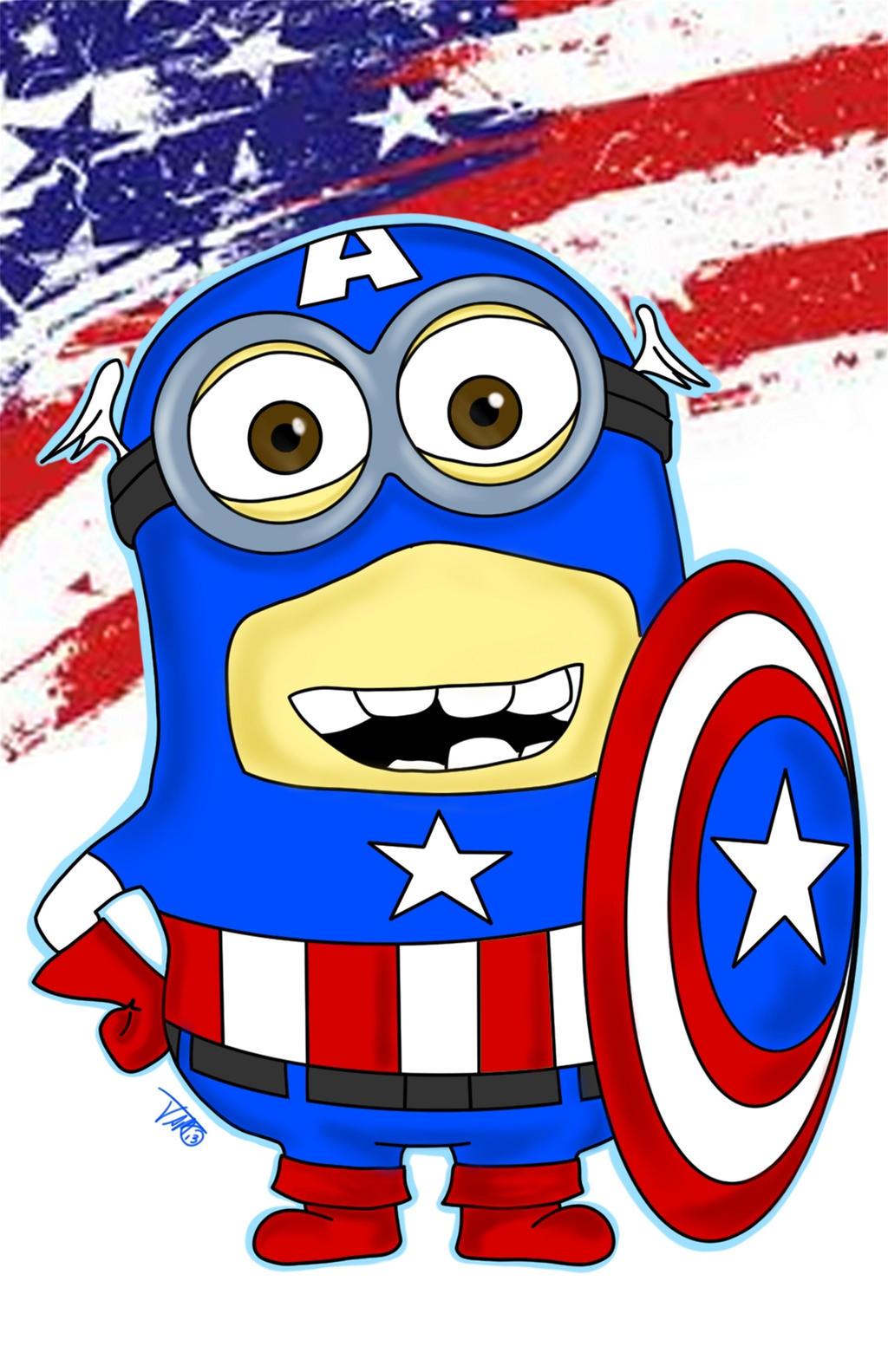 Minion Captain America Amigurumi : Batman Minion Drawing - Viewing Gallery