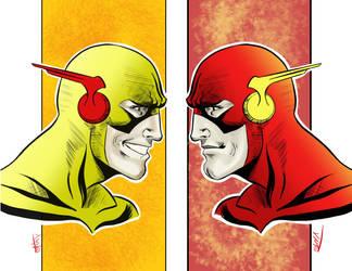 Flash / Reverse flash nemesis by jamart2013