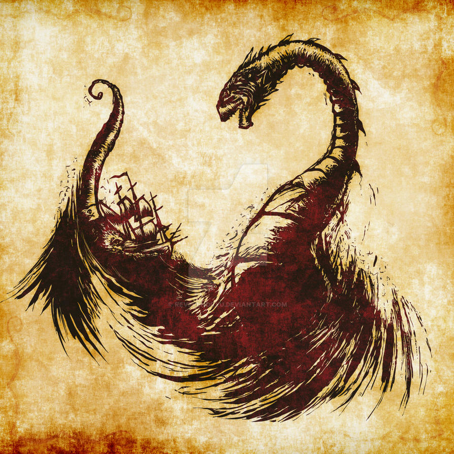The Great Sea Wyrm by ReverendRyu