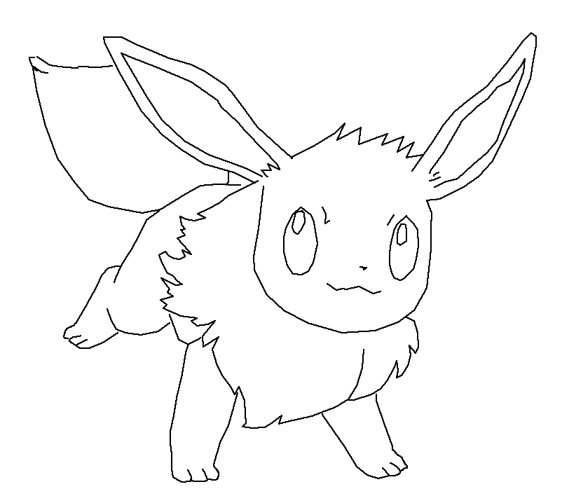 Pokemon eevee coloring pages to print sketch coloring page for Pokemon eevee coloring pages