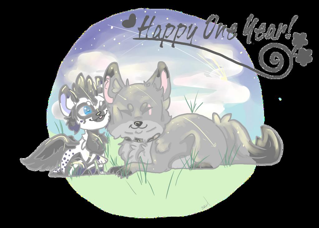 Happy One Year!~commission by Jib-Jab
