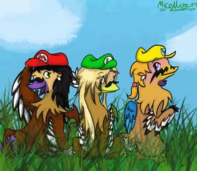 Mario Hats+Nutzi Hoens=FUN~