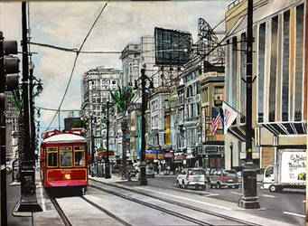 Trolley at Canal Street by CwerkzStudios