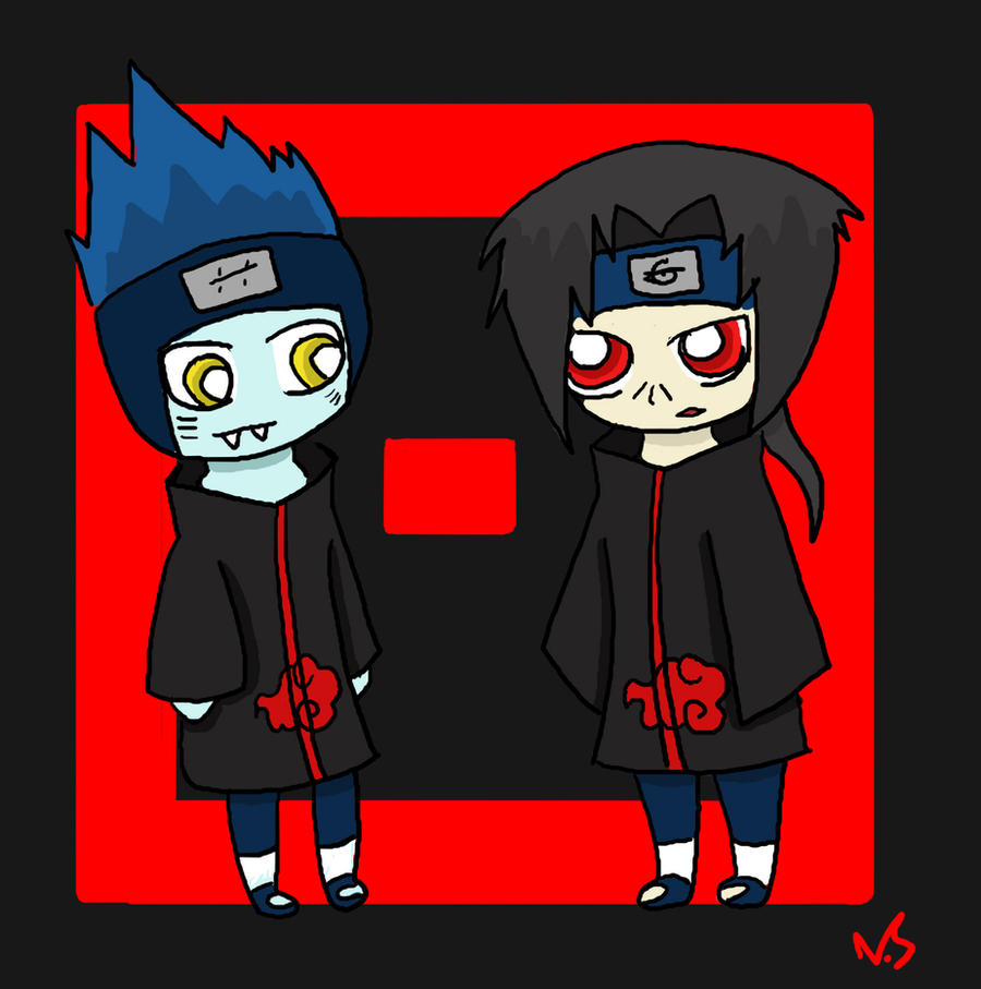 Akatsuki Chibis - Kisame and Itachi by NeonSenpai on ...